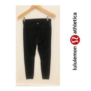 Lululemon Wunder Under olive black texture Pants 8